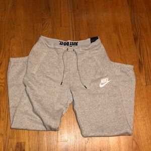 heather grey Nike joggers